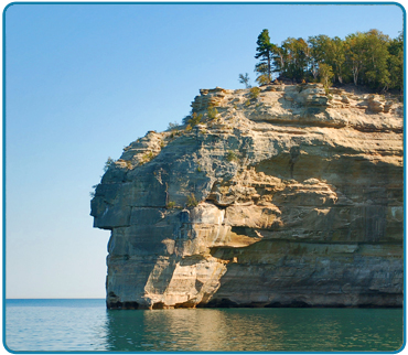 Indian Head is our famous formation that indeed looks a Native American.