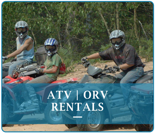 When planning your warm weather trip to the Pictured Rocks, plan for excitement!  We have ATV rentals, ORV rentals, for your Off Roading Adventure.